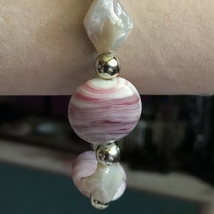 Jewelry - New Chunky Glass Bead Stretch Bracelet